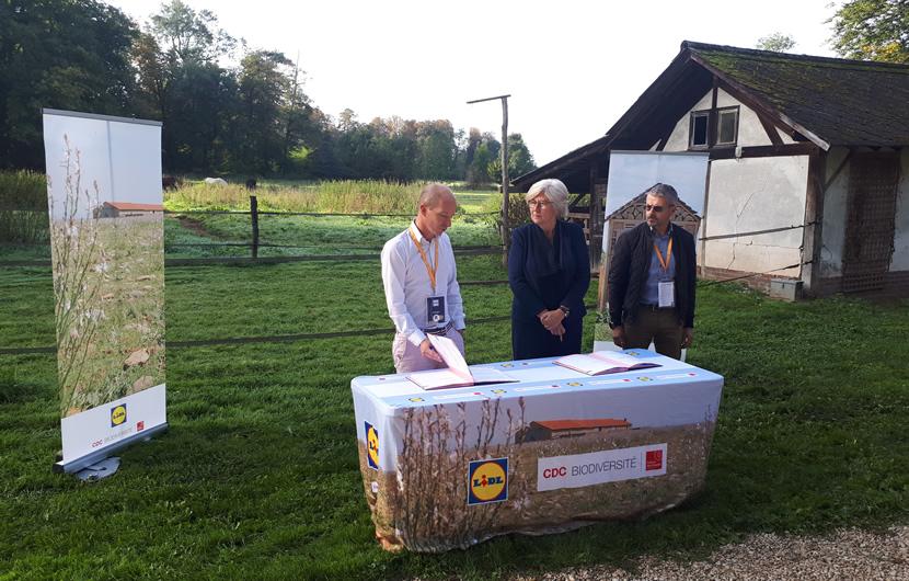 De gauche à droite, Guillaume Calcoen, Marianne Louradour et Bruno Marecchia © CDC Biodiversité